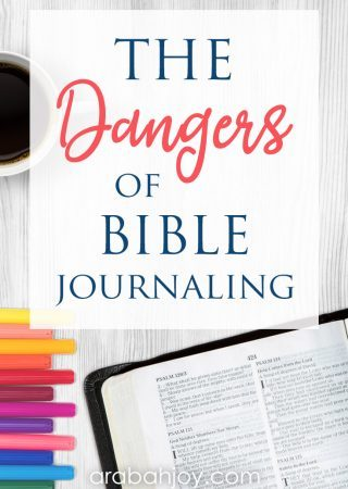 If you're concerned with the dangers of journaling in your Bible, read our reasons for not journaling in your Bible. See what we recommend instead.