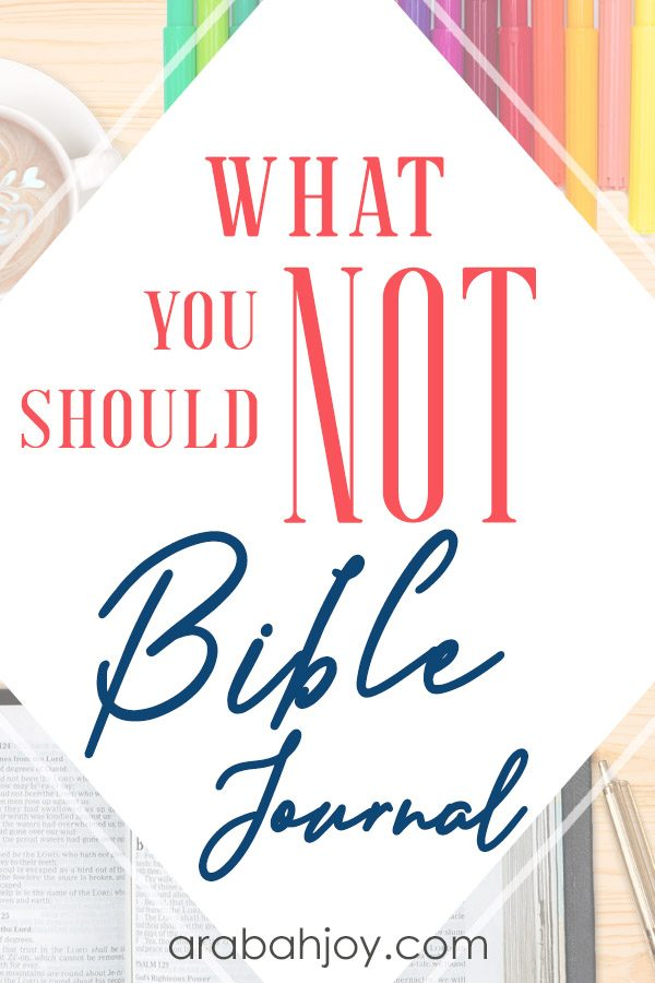 Do you know the dangers of jouraling in your Bible? We're looking at some of the reasons that you should not draw in your Bible.