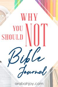 Read the dangers of journaling and find out why NOT to do journaling in your Bible.