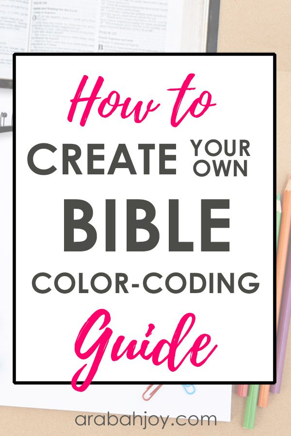 Read these tips for creating your own Bible color coding guide. Learn ways to create a Bible coloring chart that will help you with Bible marking. #Biblestudy #Biblemarking #spiritualgrowth
