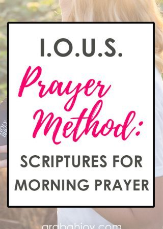Prayer models can be helpful in providing creative ways to pray. This prayer method helps you focus on claiming your spiritual inheritance in Christ.