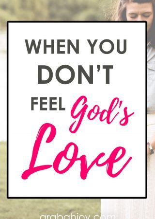 If you wonder about God's love, check these perspectives on God and on forgiveness. Read what to do when you feel God doesn't love you.