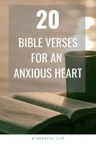20 Bible verses for an anxious heart