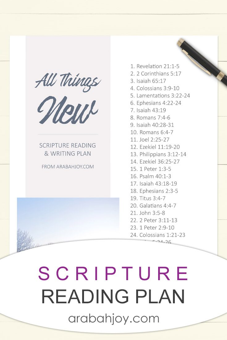 Free Monthly Bible Reading Plans