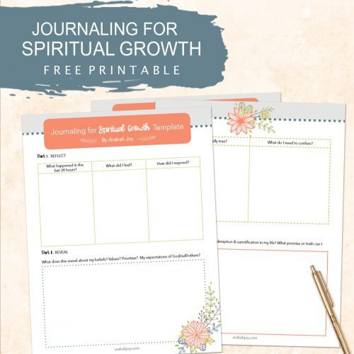 Journaling for Spiritual Growth FREE Printable