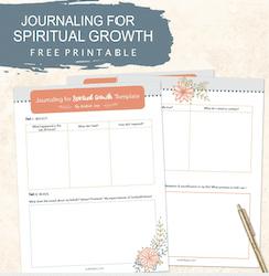 Journaling for Spiritual Growth FREE Printable