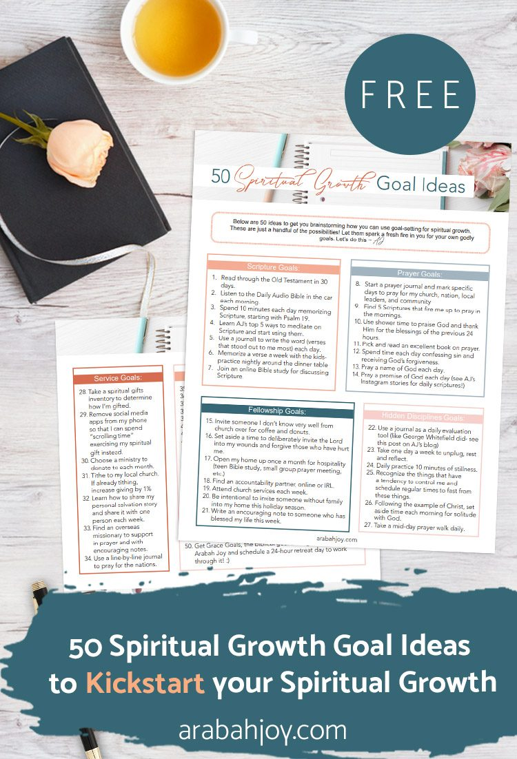 50 Spiritual Growth Goal Ideas To Jumpstart Your Spiritual Growth