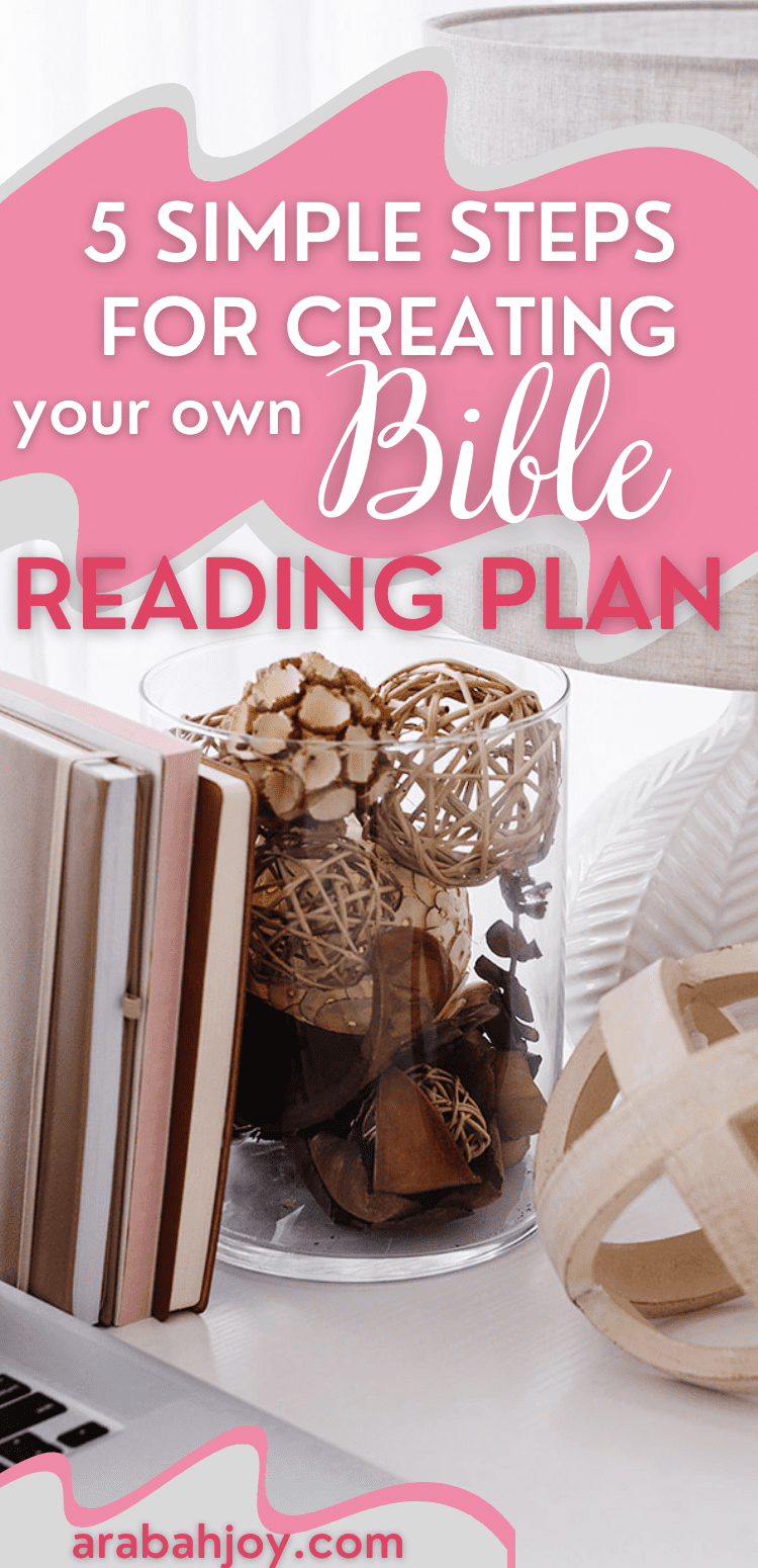 Learn how to create your own topical bible reading plan with these 5 easy steps!