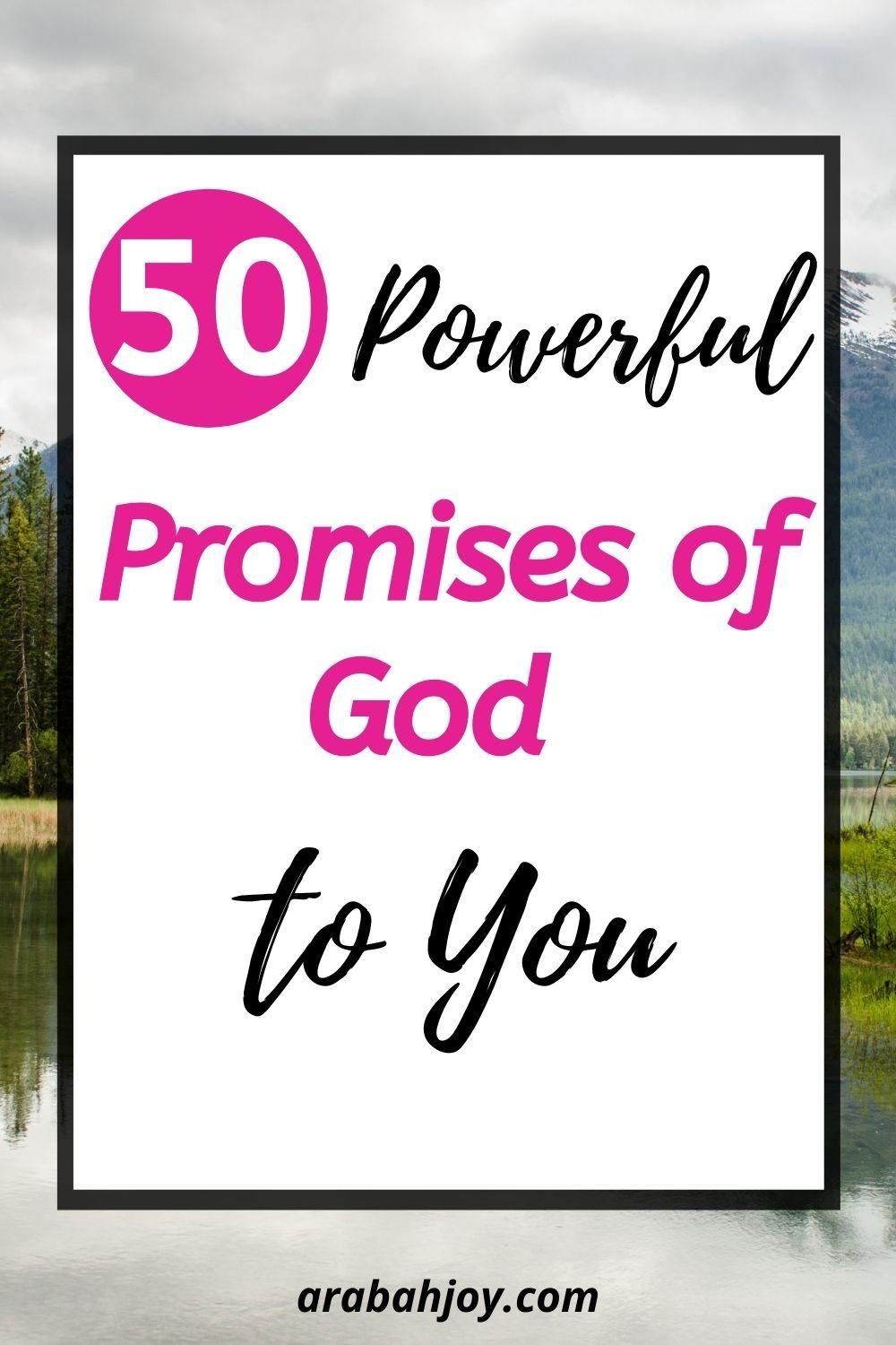 """Ever wondered what promises of God you could """"claim"""" as your own? Or wondered how not to take God's promises out of context? Here are 50 promises of God that you can count on"""