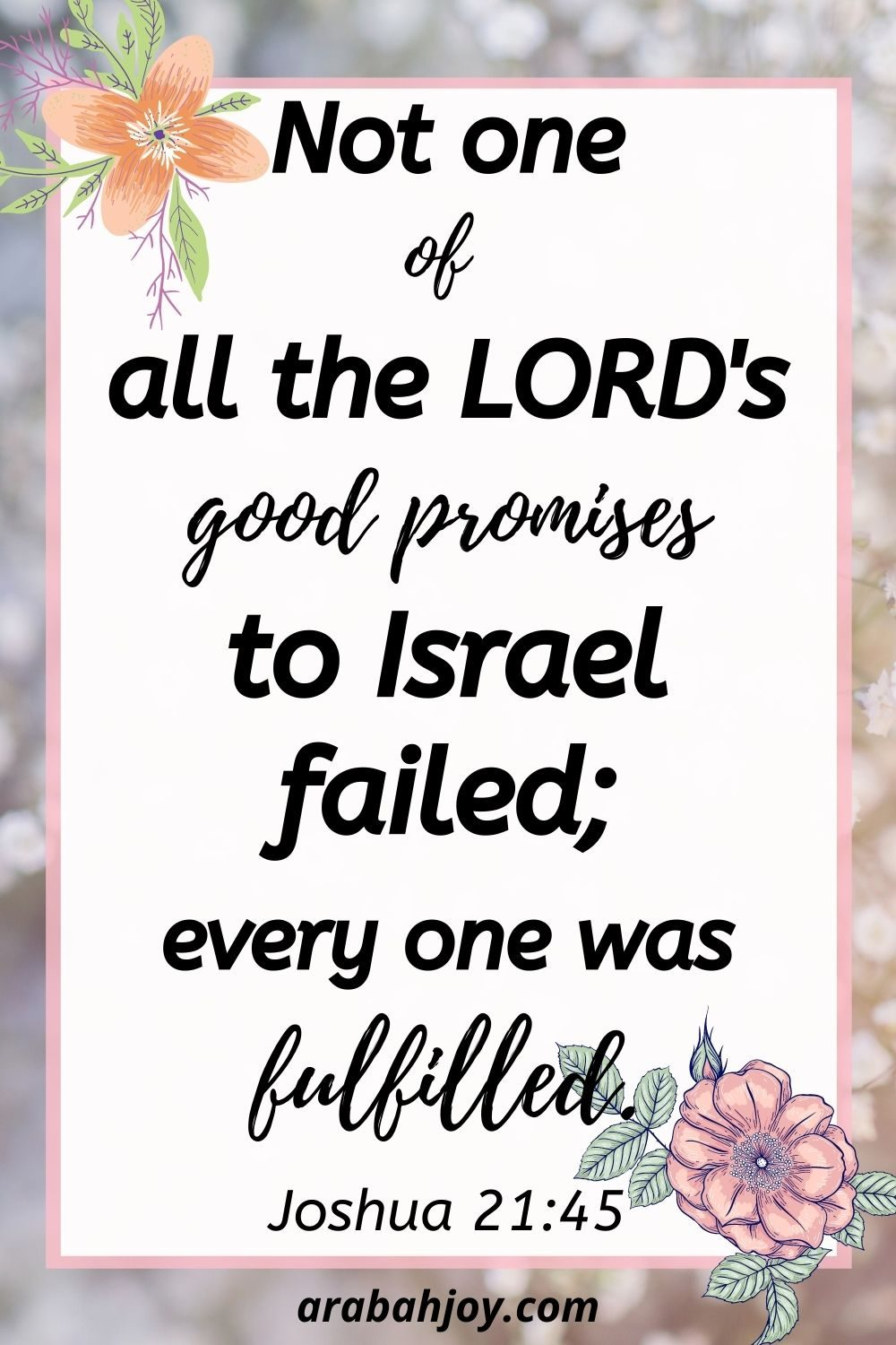 God's promises to you can be relied upon because none of his promises have ever failed! Here are 50 promises of God to you that you can count on!