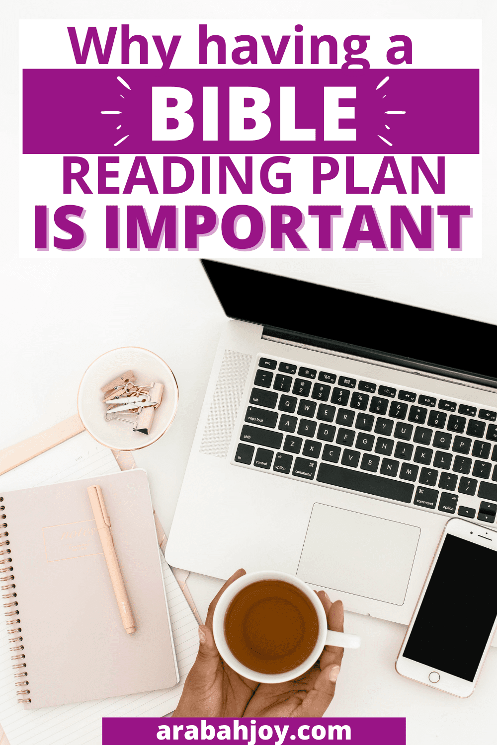 If you want to consistently spend time in God's word, having a bible reading plan can help! Here's Why Having a Bible Reading Plan is Important