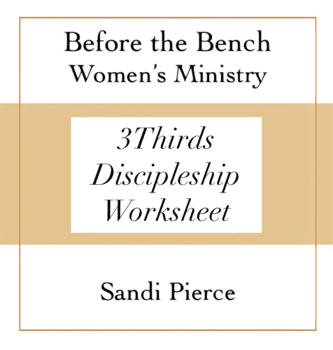 The 3 Thirds discipleship framework will show you how to structure a small group meeting