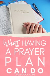 What could happen if you regularly stood on the promises of God? If you don't have a solid prayer plan, you need one! Here's one to get started with.