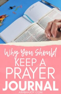 Here are 5 important reasons why you should keep a prayer journal