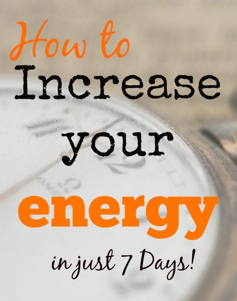How to Increase Energy: The 12 Minute Energy Break