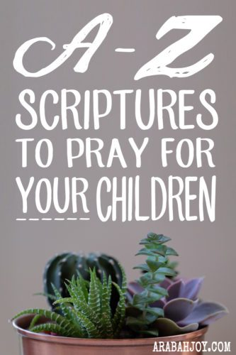 One of the most powerful and rewarding things we can do as parents is pray for our children. One of the benefits of praying scripture over our children is we are praying God