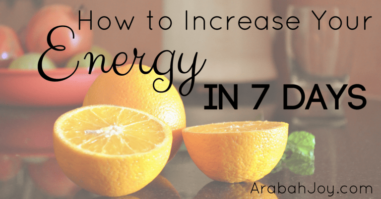 7 Days to Increased Energy